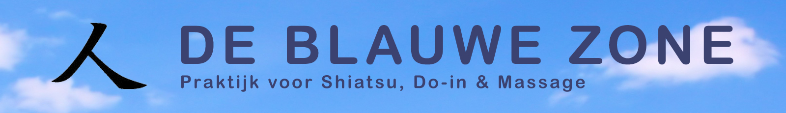 Banner van Shiatsu de Blauwe Zone
